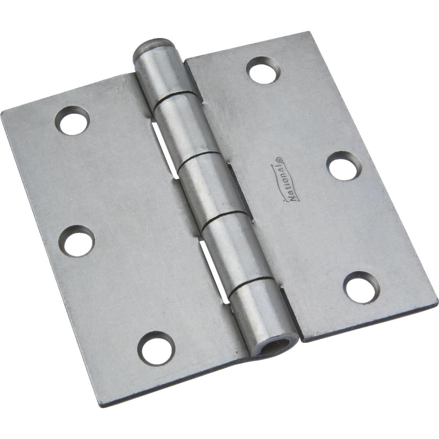 National 3-1/2 In. Steel Removable Pin Broad Hinge Image 1