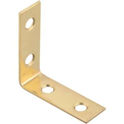 National Catalog V1875 1-1/2 In. x 5/8 In. Solid Brass Corner Brace