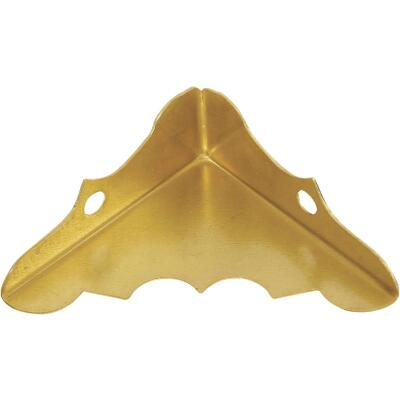 National Catalog V1854 9/16 In. x 1-1/4 In. Brass Decorative Corner Protector (4-Count)
