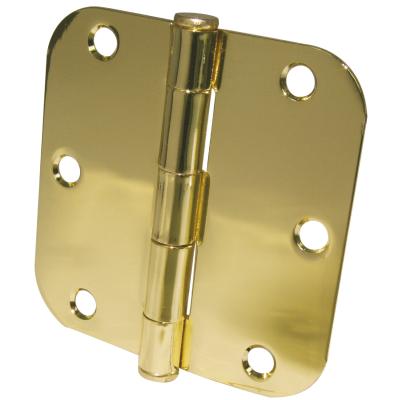 Ultra Hardware 3-1/2 In. x 5/8 In. Radius Polished Brass Door Hinge (3-Pack)