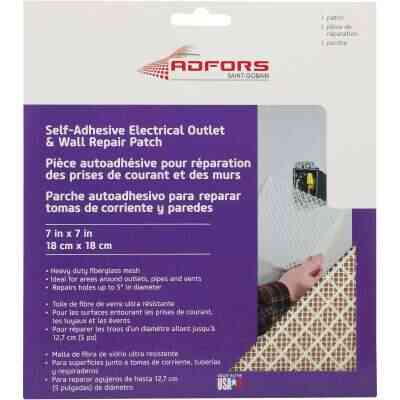 FibaTape 7 In. x 7 In. Electrical Outlet Self-Adhesive Drywall Patch