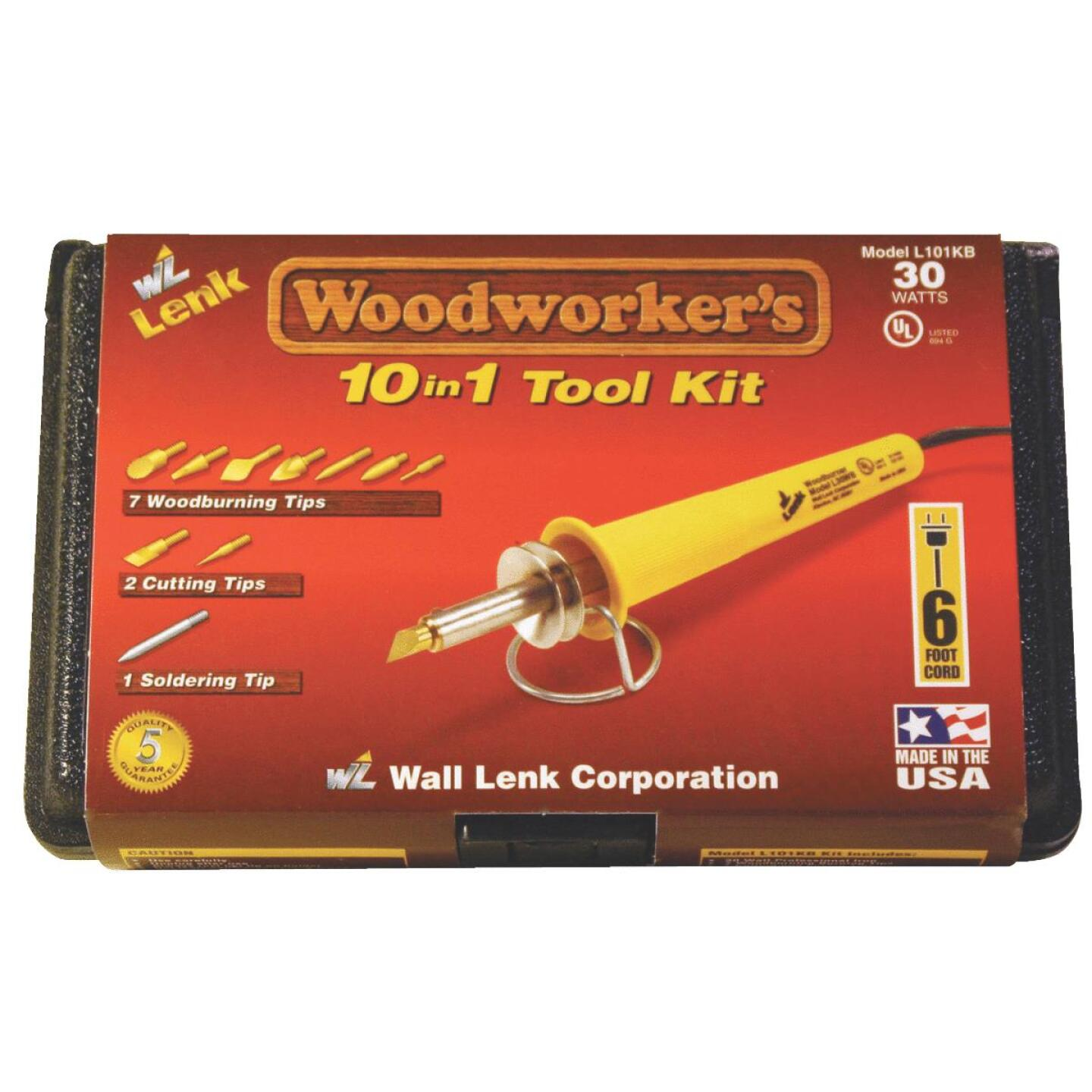 Wall Lenk Woodworker's 30W 10-in-1 Wood Burning Kit Image 2