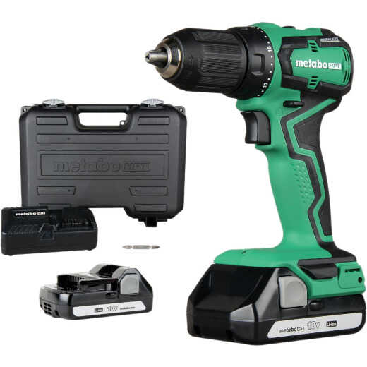 Metabo 18V Lithium-Ion 1/2 In. Sub-Compact Cordless Drill Kit