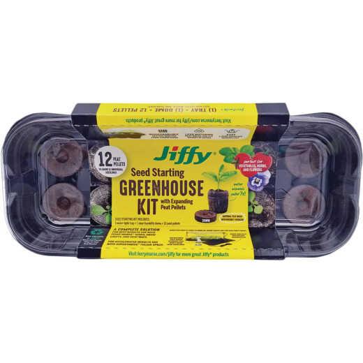 Jiffy 12-Pellet Windowsill Greenhouse Seed Starter Kit