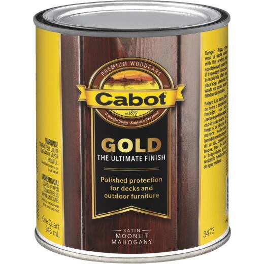 Cabot Gold Exterior Stain, Moonlit Mahagany, 1 Qt.