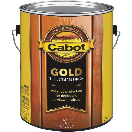 Cabot Gold Low VOC Exterior Stain, Sunlit Walnut, 1 Gal.