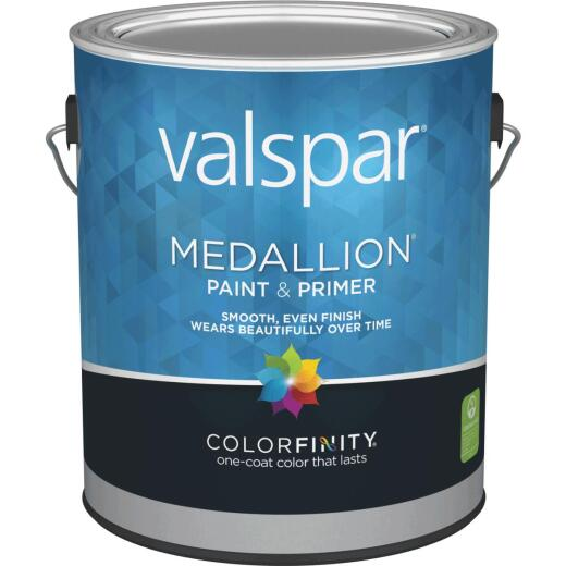 Valspar Medallion 100% Acrylic Paint & Primer Eggshell Interior Wall Paint, White, 1 Gal.