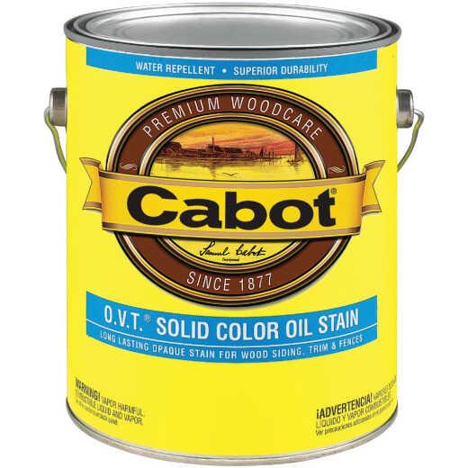 Cabot O.V.T. VOC Compliant Solid Color Exterior Stain, Deep Base, 1 Gal.