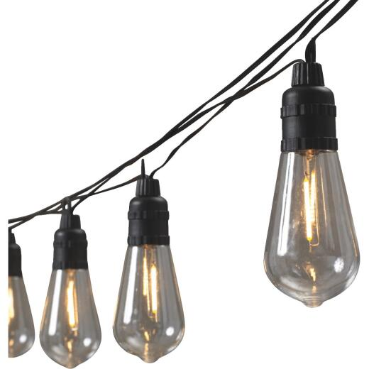 Gerson 10-Light Warm White Battery Operated Patio String Lights